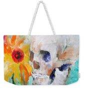 Skull And Sunflower Weekender Tote Bag