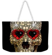 Skull Art - Day Of The Dead 3 Stone Rock'd Weekender Tote Bag