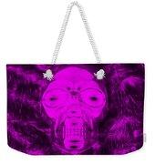 Skull In Negative Purple Weekender Tote Bag