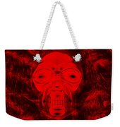 Skull In Negative Red Weekender Tote Bag