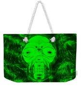 Skull In Radioactive Negative Green Weekender Tote Bag