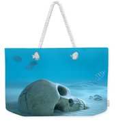 Skull On Sandy Ocean Bottom Weekender Tote Bag by Johan Swanepoel