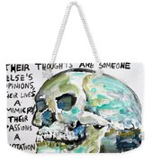 Skull Quoting Oscar Wilde.10 Weekender Tote Bag