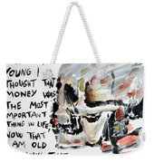 Skull Quoting Oscar Wilde.3 Weekender Tote Bag