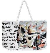 Skull Quoting Oscar Wilde.3 Weekender Tote Bag