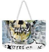 Skull Quoting Oscar Wilde.4 Weekender Tote Bag