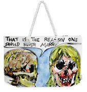 Skull Quoting Oscar Wilde.5 Weekender Tote Bag