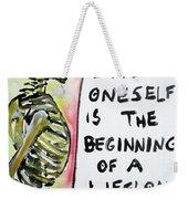 Skull Quoting Oscar Wilde.9 Weekender Tote Bag