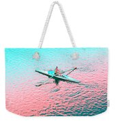 Skulling Boat At Sunset Weekender Tote Bag