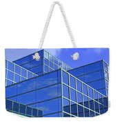 Sky Blue Mirror Weekender Tote Bag