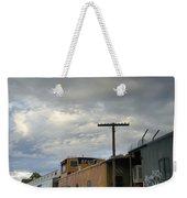 Sky Clouds And Graffiti Old Santa Fe Railyard Weekender Tote Bag