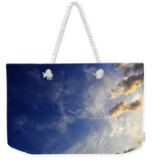 Sky Plane Bird From The Series The Imprint Of Man In Nature Weekender Tote Bag
