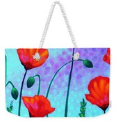 Sky Poppies Weekender Tote Bag