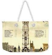 Sky Scrapers Of Philadelphia 1896 Weekender Tote Bag