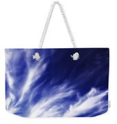 Sky Wisps Blue Weekender Tote Bag