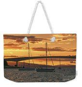 Skye Bridge Sunset Weekender Tote Bag