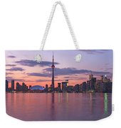 Skyline At Dusk From Centre Island Weekender Tote Bag