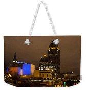 Skyline At The Milwaukee River Weekender Tote Bag
