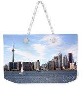Skyline Of Toronto Ontario Weekender Tote Bag
