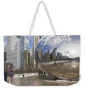 Skyline Reflected Weekender Tote Bag