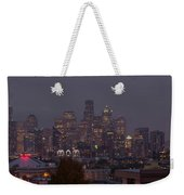 Skylines At Dusk, Seattle, King County Weekender Tote Bag