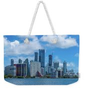 Skylines At The Waterfront, Miami Weekender Tote Bag