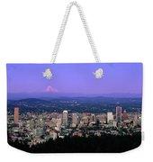 Skylines In A City With Mt Hood Weekender Tote Bag
