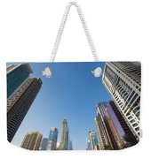 Skyscrapers Along Sheikh Zayed Road Weekender Tote Bag
