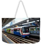Skytrain Carriage Metro Railway At Nana Station Bangkok Thailand Weekender Tote Bag