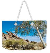 Slanted Rocks And Sycamore Tree  In Andreas Canyon In Indian Canyons-ca Weekender Tote Bag
