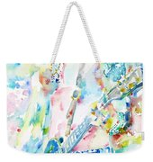 Slash Playing Live - Watercolor Portrait Weekender Tote Bag