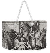 Slaughter Of The Sons Of Zedekiah Before Their Father Weekender Tote Bag