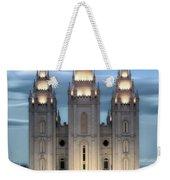 Slc Temple Blue Weekender Tote Bag by La Rae  Roberts