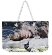 Sleeping Hippo Weekender Tote Bag