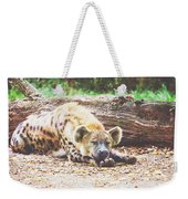 Sleeping Hyena Weekender Tote Bag