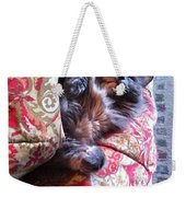 Sleeping In Today Weekender Tote Bag by Katie Cupcakes