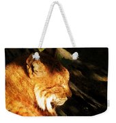 Sleeping Lynx  Weekender Tote Bag
