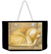 Sleeping Orange Tabby Cat Cathy Peek Animals Weekender Tote Bag