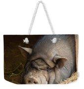 Sleeping Pig Weekender Tote Bag