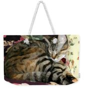 Sleeping Tabby Weekender Tote Bag