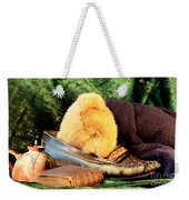 Sleeping Teddy Weekender Tote Bag