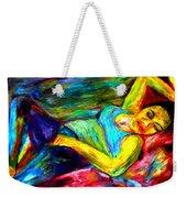 Sleeping Woman Weekender Tote Bag