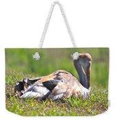Sleepy Baby Sandhill Crane Weekender Tote Bag