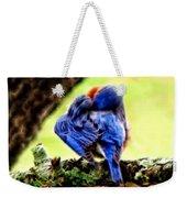 Sleepy Bluebird Weekender Tote Bag