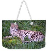 Sleepy Cheetah Weekender Tote Bag