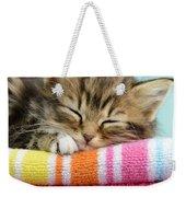 Sleepy Kitten Weekender Tote Bag