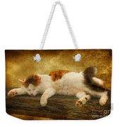 Sleepy Kitty Weekender Tote Bag