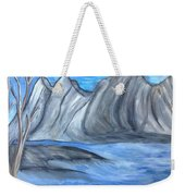 Sleepy Mountain Weekender Tote Bag