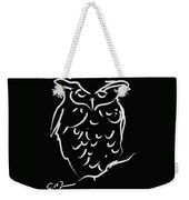 Sleepy Owl Weekender Tote Bag