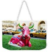 Cow Parade N Y C 2000 - Sleepy Time Cow Weekender Tote Bag